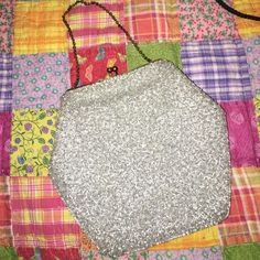 Antique beaded purse Light grey/silver beaded purse Bags Clutches & Wristlets