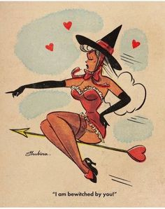 Retro Pinup Girl Art Prints by SvetaShubinaGallery x / x / x / x / x x / x / x / x / x Halloween Cartoons, Halloween Pin Up, Vintage Halloween, Halloween Prints, Whimsical Halloween, Vintage Cartoons, Vintage Comics, Pin Up Cartoons, Desenhos Old School