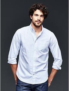 Modern Oxford checkered shirt | Gap Large Size