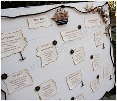 "Table Plan ""Old sailing ships"""