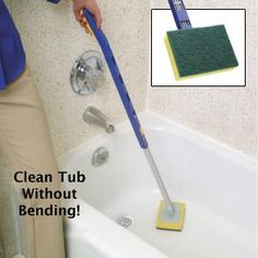 If you cannot reach your tub, this could be handy. A good old-fashioned mop can work well too!