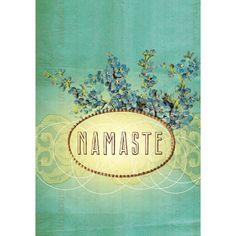 Papaya! Art Namaste Small Greeting Card