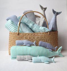 Whale Plush animal toy. Stuffed whale cute by CherryGardenDolls