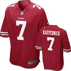 NEW ARRIVAL  Colin Kaepernick Jersey  Red Game Replica  7 Nike San  Francisco 49ers c520ad8d14fe5