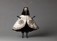 """Untitled (Moth man) from the """"Creatures"""" series by English artist Cat Johnston. Photo by Christina Solomons. via Christina Solomons Photography Charles Freger, Character Inspiration, Character Design, Arte Obscura, Costume Design, Wearable Art, Art Inspo, Art Dolls, Concept Art"""