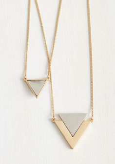 Tri As You May Necklace. Seeking an amazing accessory to complement your edgy personality?  #modcloth