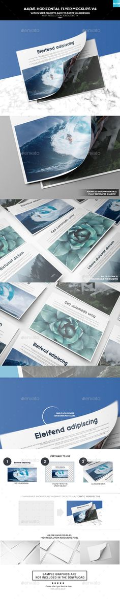 A4/A5 Horizontal Flyer Mockups. Download here: https://graphicriver.net/item/a4a5-horizontal-flyer-mockups-v4/17524612?ref=ksioks