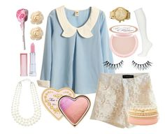 """treat me"" by petitepasserine ❤ liked on Polyvore featuring Retrò, Too Faced Cosmetics, Topshop, Napoleon Perdis, Nixon, Charlotte Russe, Wet Seal, Forever New and Maybelline"