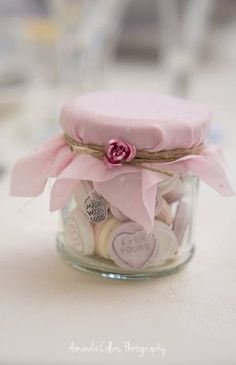 Shabby chic wedding favours, various designs #shabbychicwedding