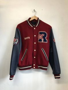 Browse the most sought after Roots clothing including Sweatshirts & Hoodies, Leather Jackets, Short Sleeve T-Shirts, & more. Shop our curated selection today! Leather Varsity Jackets, Varsity Letterman Jackets, Baseball Jackets, Senior Jackets, Varsity Jacket Outfit, Vintage Jacket, Mode Style, Jacket Style, Swagg