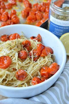 Spaghetti with Roasted Cherry Tomatoes and Herbs