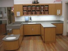 Here is a Child Care Center we just finished with a baby changing table. Pretty good idea being it is easily cleanable. Infant Room Daycare, Toddler Classroom, Preschool Classroom, Classroom Ideas, Daycare Design, Classroom Design, Daycare Ideas, School Design, Diaper Changing Station