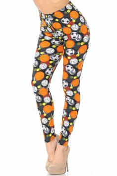 Fall means sports...soccer, volleyball, football... these leggings have it ALL!