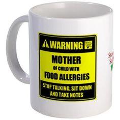 WARNING! Mug www.snacksafely.com