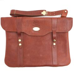 Colonel Littleton Leather No. 16 Document Bag at Maverick Western Wear