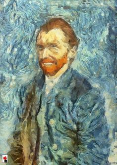 Van Gogh self-portrait by colorARTillery  The SM.ART VERSE (SMiling ART uniVERSE) is a serie of famous works of art decipted with a smiling subject.