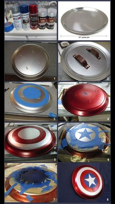 "Read, Bleed, Feed: A ""real"" Captain America shield diy Captain America Party, Captain America Cosplay, Captian America Costume, Captain America Halloween Costume, Captain America Birthday, Diy Costumes For Boys, Boy Costumes, Cosplay Tutorial, Cosplay Diy"