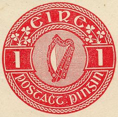 ◙ Ireland, Postage Stamp. ◙
