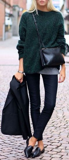 #genuine-people #genuinepeople #winter #outfit #streetstyle #cozy #green #sweater