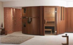 Design-Sauna CHARISMA: Design-Sauna mit Duschbereich.
