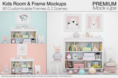 Kids Room & Frames Pack by mock-ups on @creativemarket