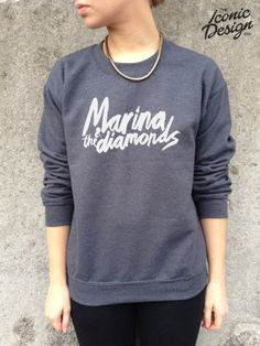 Marina And The Diamonds Band Jumper Top by TheIconicDesignCo THIS IS THE BEST THING EVER