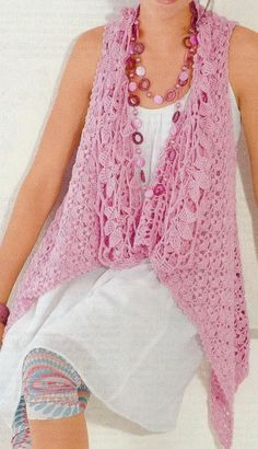 Stylish Easy Crochet: Crochet Cardigan: Charts