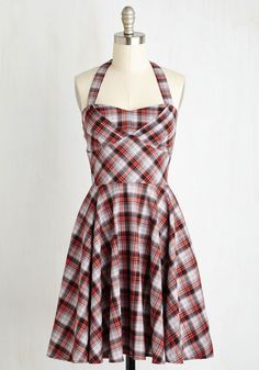 Traveling Cake Pop Truck Dress in Paprika Plaid. Run your dessert truck looking as sweet as your homemade confections in this darling plaid dress! #multi #modcloth