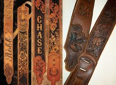 burnmethod, guitar, strap, pyrography, custom, wood burning, engraved, personalized, leather, outlaw, county, paisley, scrollwork, name