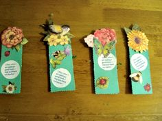 Scrapbook bookmarks