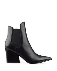 Kendall and Kylie Finley Pointed Toe Block Heel Booties - Sharp and sleek pointed toes and thick block heels modernize the classic wear-everywhere staple Chelsea boot by Kendall and Kylie.