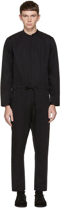 ISABEL BENENATO Black Cotton Jumpsuit. #isabelbenenato #cloth #jumpsuit