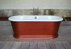 Stunning #burlington freestanding roll top london #round brushed #copper bath,  View more on the LINK: http://www.zeppy.io/product/gb/2/331937866756/