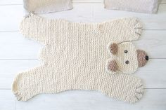 Loving this knitted Bear Rug! So sweet.