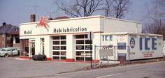 Mobil Station at Elizabeth and Michigan Ave. in Wayne, Michigan, 1960's
