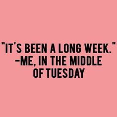 Except I say this on Monday