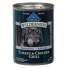 PETCO: Blue Buffalo Wilderness Canned Turkey & Chicken Grill Dog Food: 6% carbs. $0.20/oz at PETCO online ($31 for 12 12.5-oz cans). Not on Amazon. What is texture like? Same thing Foxy tried before & didn't like?