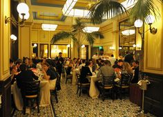 The scene during dinner at Bouchon