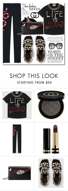 """""""GUCCI"""" by zhris ❤ liked on Polyvore featuring Gucci"""