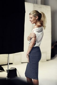 The Simply Luxurious Life®: Style Inspiration: Cropped, Stripes & Hues of Blue