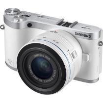 Samsung - NX300 20.3-Megapixel Digital Compact System Camera with 20-50mm Lens - White