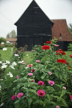 When Philippa Burrough and family moved into a farmhouse in Essex, they found a yard full of rusting machinery as well as a handful of glorious black barns. What better place to build a garden?