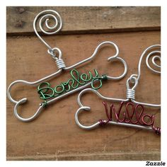 Personalized Dog Bone Ornament. Add your own dogs name. Click here to see>> http://www.zazzle.com/green_personalized_dog_bone_ornament-256655356248261381
