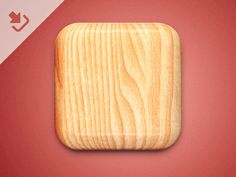 Wood Icon PSD 2