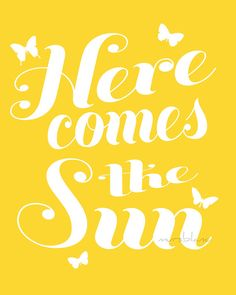 Here comes the sun, Beatles lyric, Printable Lyrics, Instant Download, Printable…