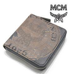 MCM(エムシーエム) 財布 チャコール レザー ラウンドファスナー ウォレット Vasco【送料無料】 wal-mcm-026