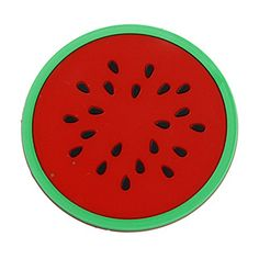Silicone Fruit Shade Round Coasters Skidproof Cup Mat Table Decoration * Visit the image link more details.