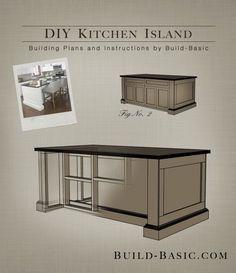 Build a DIY Kitchen Island - Building Plans by @BuildBasic www.build-basic.com