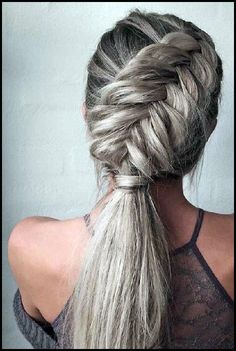 40 Trendy Braided Hairstyles For Long Hair To Look Amazingly Awesome;Beautiful prom hairstyles long hairstyles for teens. hairstyles 2018 40 Trendy Braided Hairstyles For Long Hair To Look Amazingly Awesome Teen Hairstyles, Wedding Hairstyles For Long Hair, Pretty Hairstyles, Hairstyles 2018, Ponytail Hairstyles, Braided Ponytail, Hairstyle Ideas, Edgy Updo, Hairstyle Braid