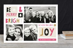 Block of Joy Holiday Photo Cards by robin ott design at minted.com